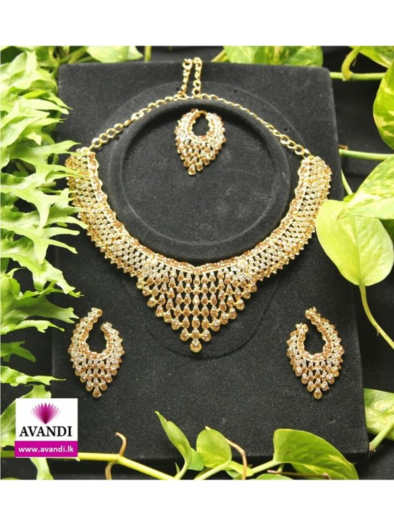 Modern Silver and Gold Full Jewellery Set & Modern Silver and Gold Full Jewellery Set - Costume Jewellery