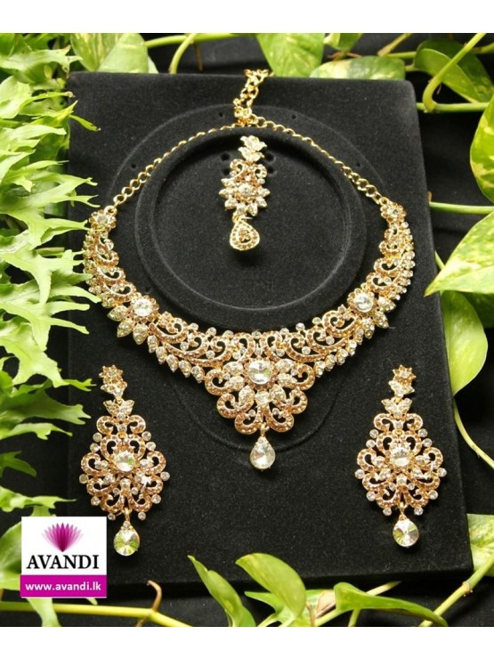 Elegant Full Set with Gold and Silver stone work