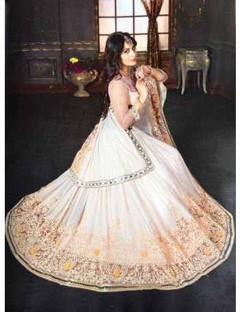 Designer Peach Embellished Premium Saree