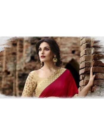 Designer Red & Gold Elegant Saree (Immediate Dispatch!)