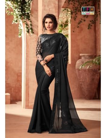 Designer Classic Black Saree (Immediate Dispatch!)