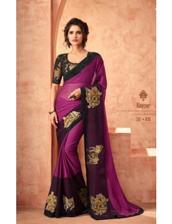 Designer Purple Saree (Immediate Dispatch!)
