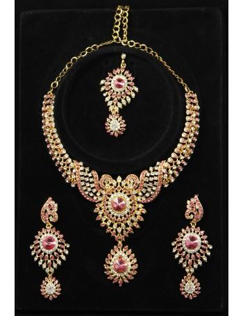 Pink & Gold Jewellery Set