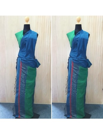 PolyCotton Green Handloom saree