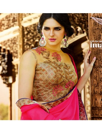 Designer Deep Pink Charming Saree