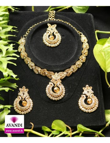 Elegant Silver and Gold Full Jewellery Set