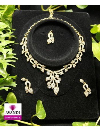 Elegant Silver and Gold Jewellery Set