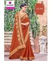 Designer Rich Brown Elegant Embroidered Saree (Immediate Dispatch!)