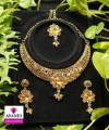 Elegant Floral Design Full set with Gold Amber and Silver stonework