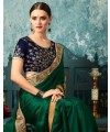 Designer Green Saree with Designer Jacket (Immediate Shipping!)